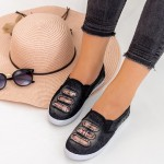 Espadrile Dama H889 Black Fashion