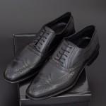 Pantofi Barbati 287-PN Black Mei