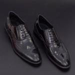 Pantofi Barbati 287-LAC Black Mei