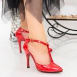 Pantofi cu Toc subtire OLMD5 Red Mei
