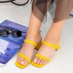 Sandale Dama cu Toc gros GH1952 Yellow Mei
