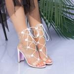 Sandale Dama cu Toc gros XKK213 Pink Mei
