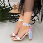 Sandale Dama cu Toc gros YXD10 Pink Mei