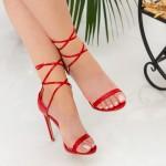 Sandale Dama cu Toc subtire XKK232 Red Mei