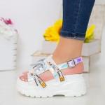 Sandale Dama cu Platforma LT179 Silver Mei