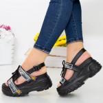 Sandale Dama cu Platforma LT179 Black Mei