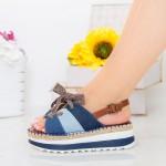 Sandale Dama cu Platforma GZXY3 Blue Mei