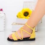 Sandale Dama QZL229 Yellow Mei