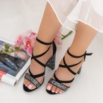 Sandale Dama cu Toc gros XKK89A Guncolor Mei