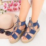 Sandale Dama cu Platforma OM5360 Blue Small Swan
