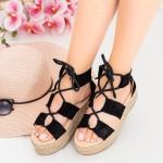 Sandale Dama cu Platforma OM5360 Black Small Swan