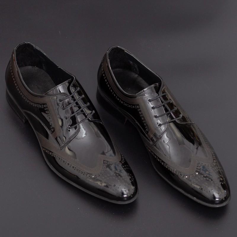 Pantofi Barbati 885 Black Mei