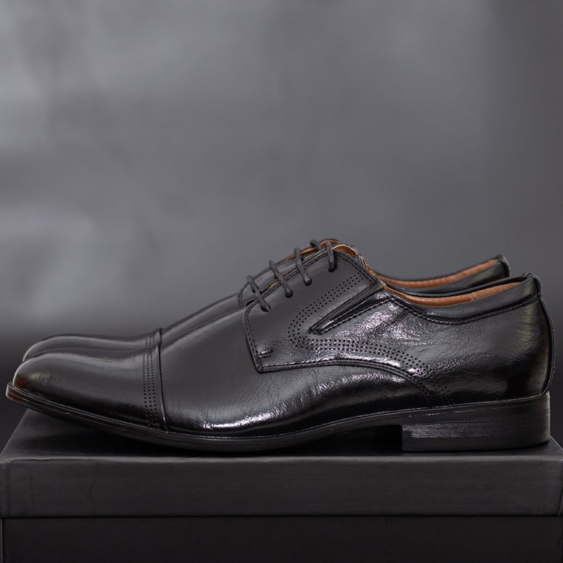 Pantofi Barbati 633 Black Mei