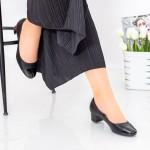Pantofi cu Toc 063-5A Negru Hebe