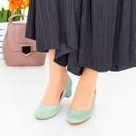 Pantofi cu Toc 063-5A Verde Hebe