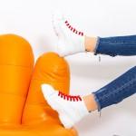 Pantofi Sport Dama Y10 Alb-Rosu Fashion