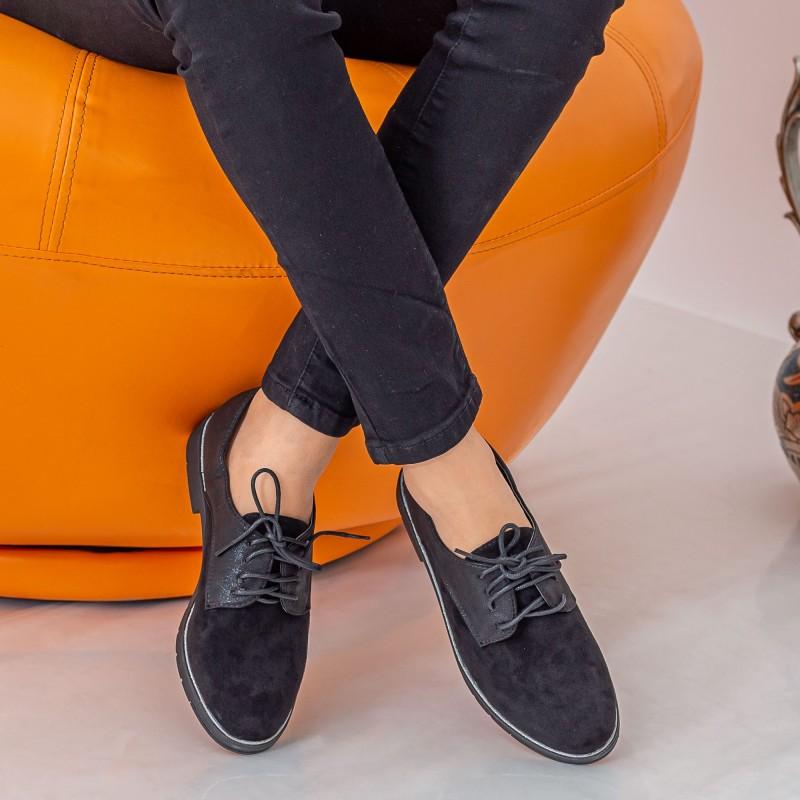 Pantofi Casual Dama YT12 Black Mei