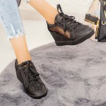 Pantofi Sport Dama cu Platforma K23 Negru Mei