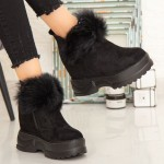 Ghete cu Platforma Dama SJN225 All Black Mei
