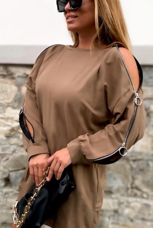 Rochie 30808 Bej Fashion