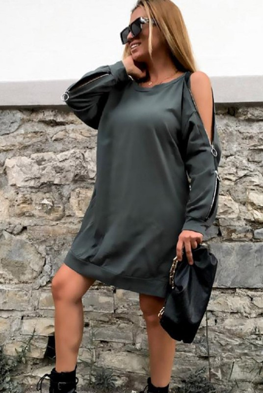 Rochie 30808 Kaki Fashion