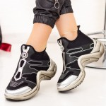 Pantofi Sport Dama SZ270 Negru-Argintiu Mei