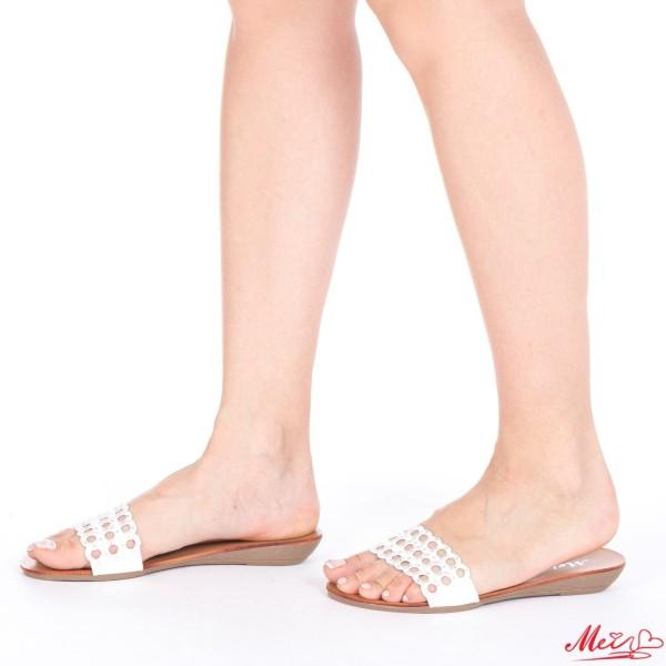 Papuci Dama LM179 White Mei