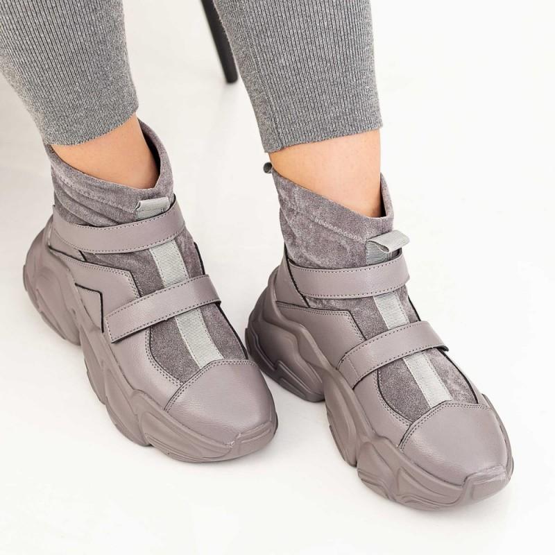 Pantofi Sport Dama HW909 Gri Mei