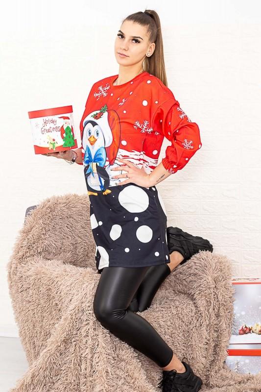 Rochie Dama 2556-49 Rosu Fashion