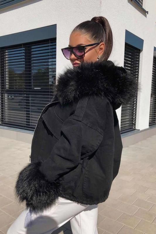 Geaca Dama HBN05 Negru Fashion