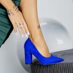 Pantofi cu Toc gros TY6 Blue Mei