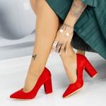 Pantofi cu Toc gros TY6 Red Mei