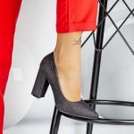 Pantofi cu Toc gros TY6A Black Mei