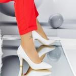 Pantofi cu Toc subtire YXD5 Silver Mei