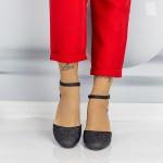 Pantofi cu Toc gros QZL200 Black Mei