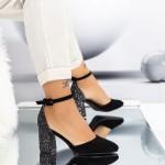 Pantofi cu Toc gros XD110 Guncolor Mei