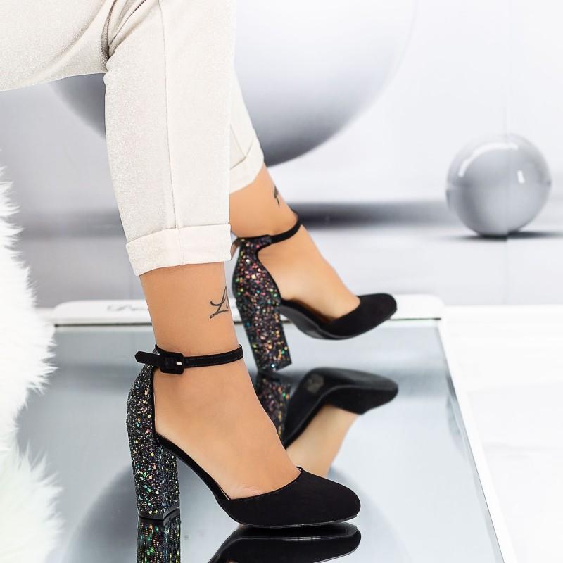 Pantofi cu Toc gros XD116A Purple Mei