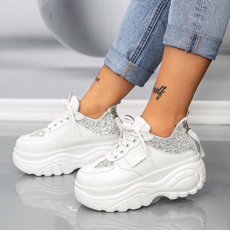 Pantofi Sport Dama WLGH55 Alb Mei