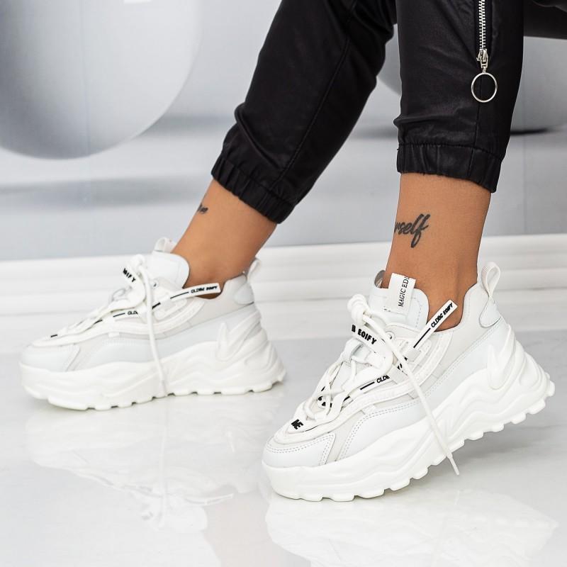 Pantofi Sport Dama WLLXE6 Alb Mei