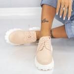 Pantofi Casual Dama XMT6A Crem Mei
