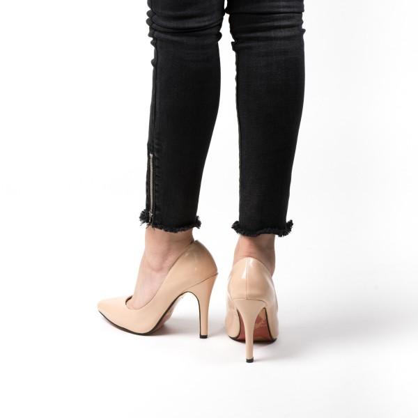 Pantofi cu Toc OL0143-1 Nude Mei