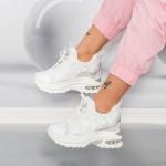 Pantofi Sport Dama cu Platforma YKQ233 Alb Mei