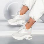 Pantofi Sport Dama cu Platforma YKQ232 Gri Mei