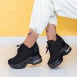 Pantofi Sport Dama cu Platforma WLGH58 Negru Mei