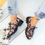 Pantofi Casual Dama DS32 Negru-Roz Mei