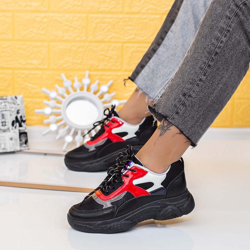 Pantofi Sport Dama X2881 Negru (P02) Se7en