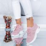 Pantofi Sport Dama cu Platforma KDN10 Roz Mei