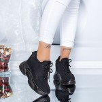 Pantofi Sport Dama cu Platforma WL1 Negru Mei