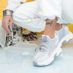 Pantofi Sport Dama cu Platforma WL1 Gri Mei