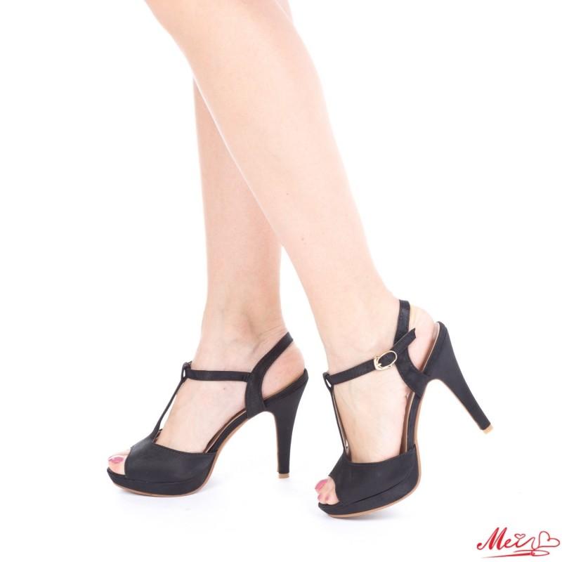 Sandale Dama cu Toc Y227 Black Mei